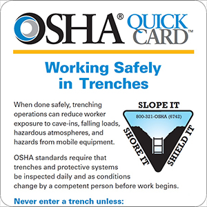 image - New Trenching Publication Available From OSHA