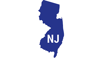 outline of state of New Jersey