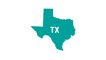 outline of state of Texas